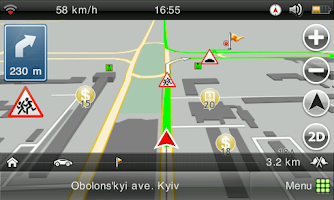 Screenshot of Visicom Navigator