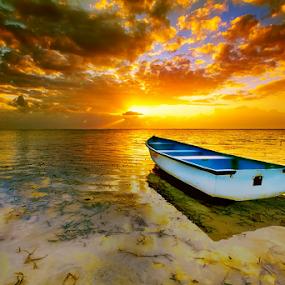 Fine Morning by I Komang Windu - Transportation Boats ( canon, bali, sanur, travel, beach, sunrise, boat, photography )