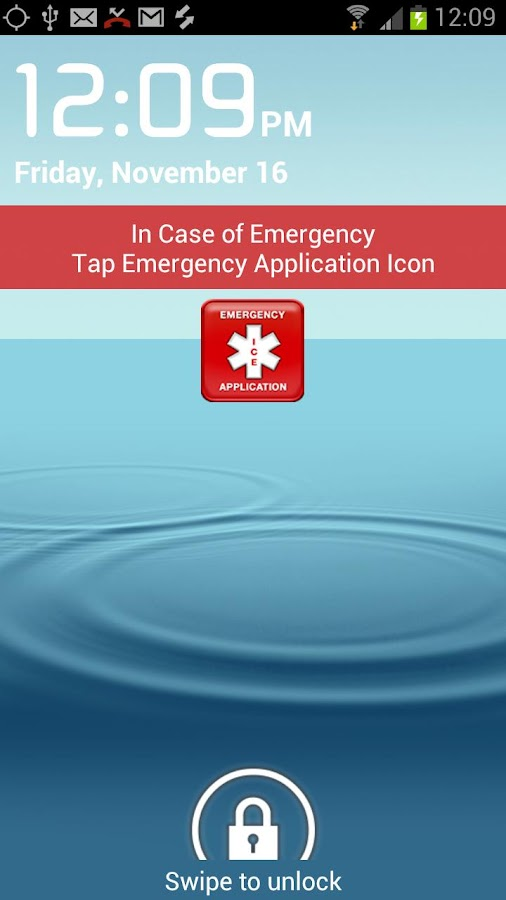 In Case of Emergency (ICE) - screenshot