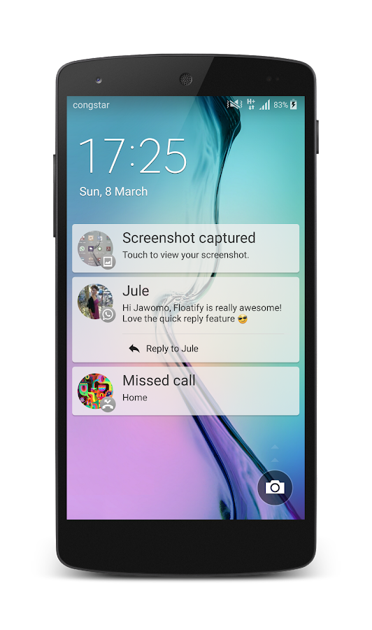 Floatify Notifications - screenshot