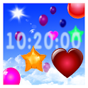 Balloons around clock icon