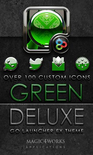 GO Launcher Theme Green Deluxe