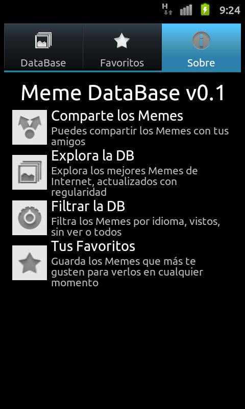 Meme DataBase - screenshot