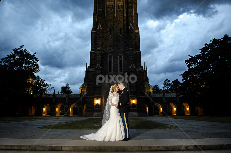 cloudy with a chance of wedding by Brian Mullins - Wedding Bride & Groom ( wedding, duke, chapel, portrait )