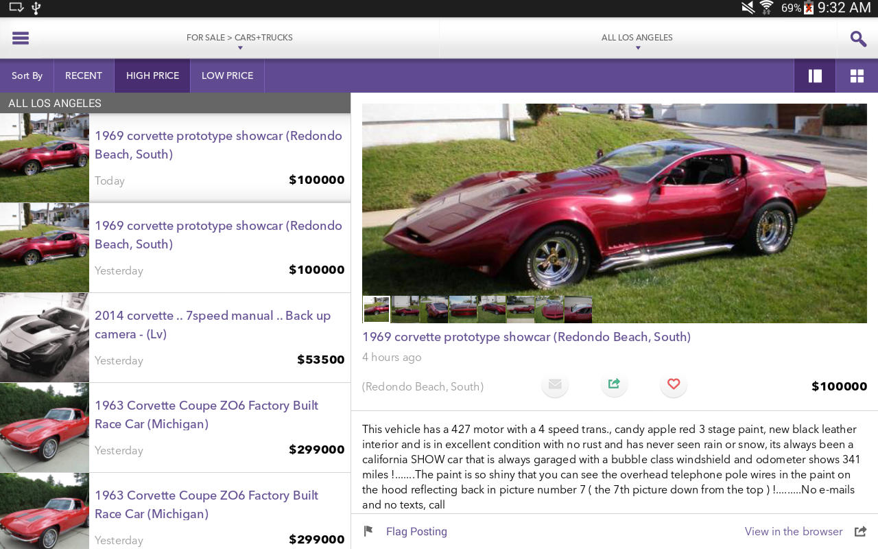 Mokriya Craigslist Android app - screenshot