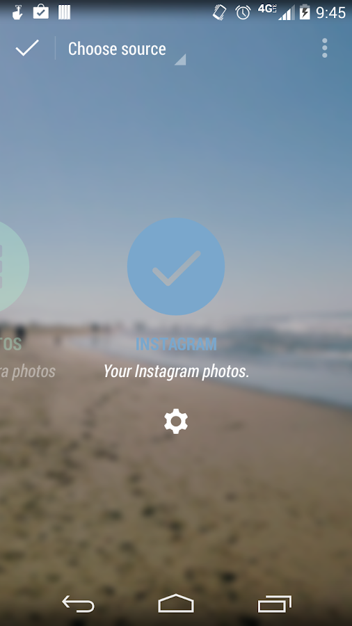 Instagram Muzei Addon - screenshot