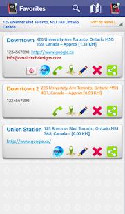 MyGPS AddressBook - náhled
