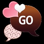 GO SMS - Coco Peach Hearts