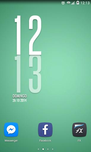 Vertical Clock 12h