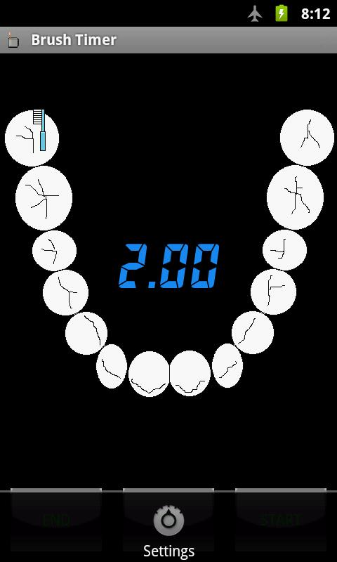 Brush Timer: captura de tela