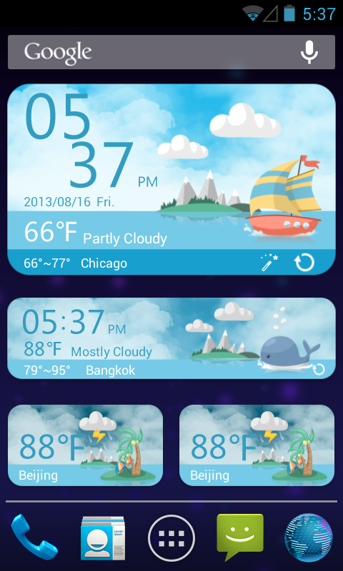 Sea Free Theme GO Weather EX - screenshot