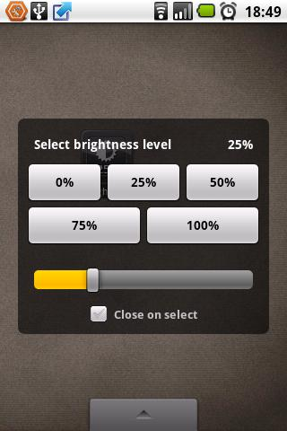 Brightness Level- screenshot