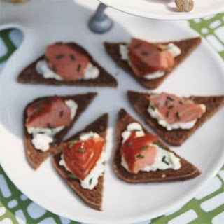 Chilled Salmon Appetizers.