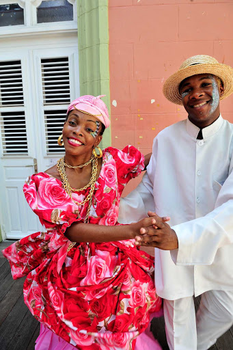 couple-traditionnel-Martinique - A couple celebrating their French-Caribbean heritage on Ash Wednesday.