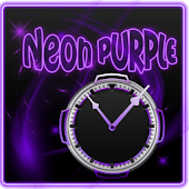 Neon Purple Style Clock