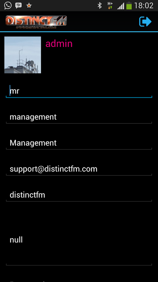 DistinctFM- screenshot