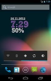 ClockQ - Digital Clock Widget Screenshot 2