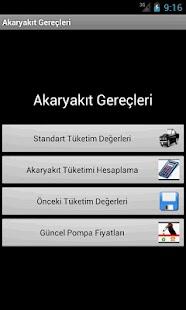 Oto Akaryakıt Tüketimi- screenshot thumbnail
