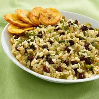 Cuban Rice and Beans With Crispy Fried Plantains
