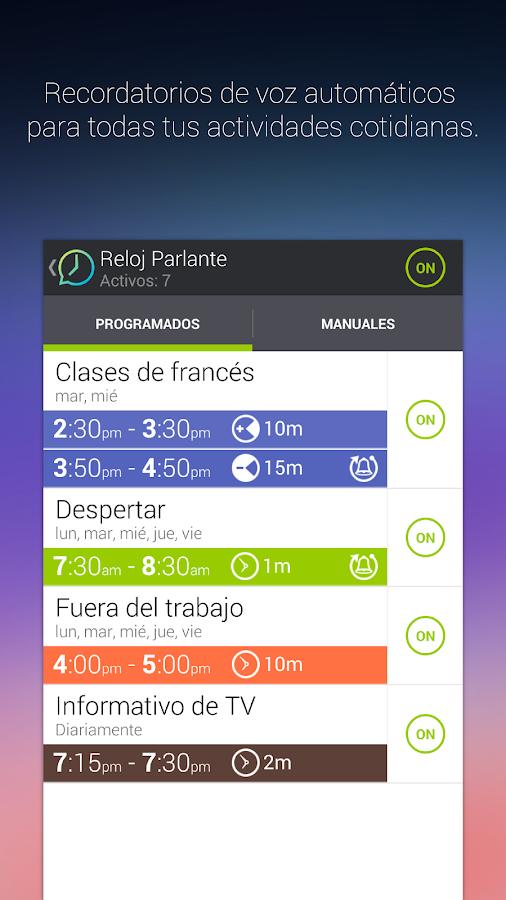 Reloj Parlante y Temporizador - screenshot