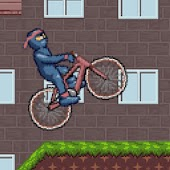 Ninja BMX bike - race game