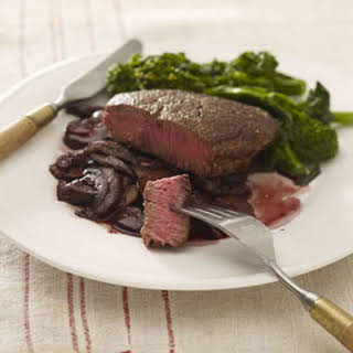 Pan-Seared Steaks With Mushrooms.