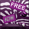 Violet Zebra Theme for ADW
