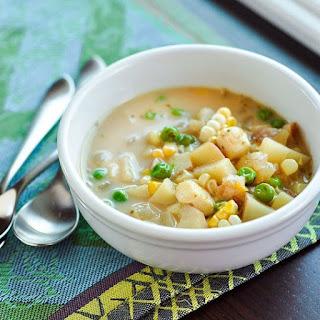 Andean Cheese & Potato Soup (Locro de Papa).