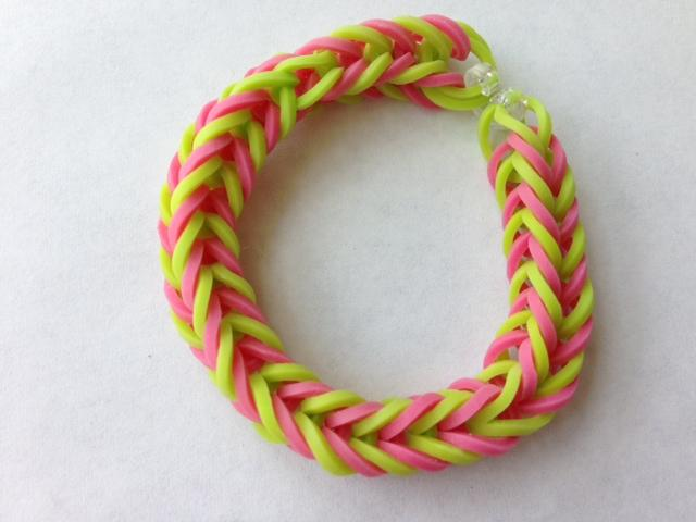 Fishtail Rainbow Loom Bracelet- screenshot