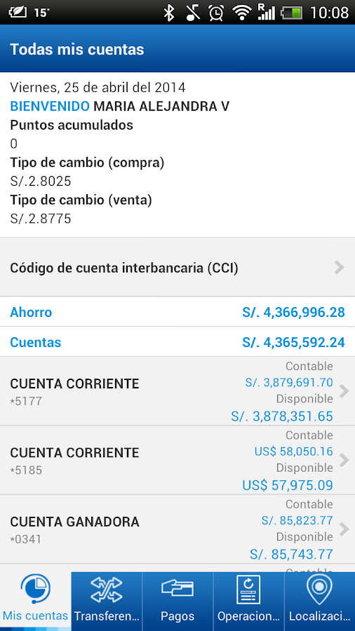 BBVA Continental - Banca Móvil- screenshot