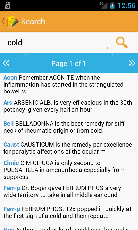 Homeopathic Clinical Tips Lite - screenshot