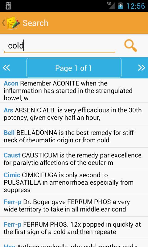 Homeopathic Clinical Tips Lite - screenshot