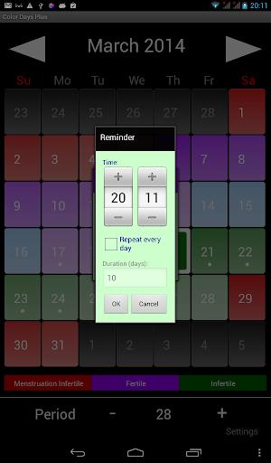 Color Days Plus Widget