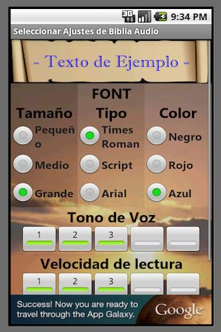 Biblia Audio en Español - screenshot