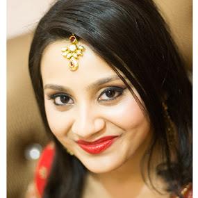 Beautiful Smile by Shrey Chohan - Wedding Bride ( love, wedding, candid, bride and groom, bride )