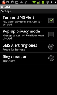 SMS Alert / Find my phone - screenshot thumbnail