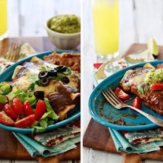 Chicken Enchiladas with Homemade Chile Gravy Enchilada Sauce.