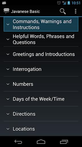 Javanese Basic Phrases