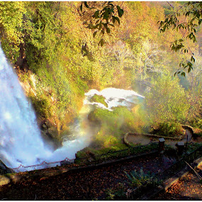 Waterfall in Edessa (Greece) by Sakis Prodigy - Landscapes Waterscapes ( edessa, hellas, waterfall, greece )