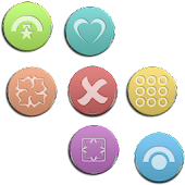 VM9 Mixed Color Glass Icons
