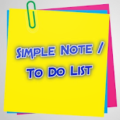 Simple Note/To Do List