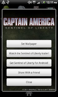 Captain America Live Wallpaper - screenshot thumbnail