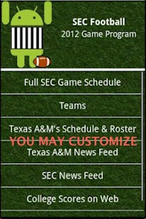 SEC Football Guide 2015- screenshot thumbnail