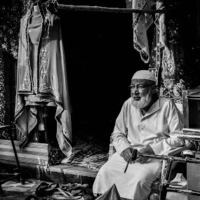 in anticipation by Sanjeev Sampath - People Street & Candids ( hyderabad, old city, tailor, street photography )