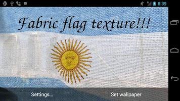 Screenshot of 3D Argentina Flag LWP