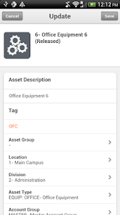 Infor Lawson Mobile Assets - screenshot thumbnail