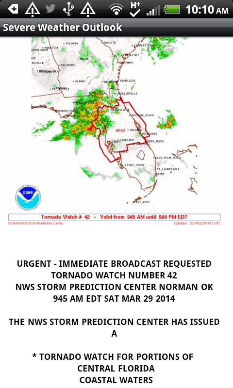 Weather from NOAA - screenshot