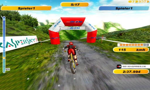 Downhill Bike Game