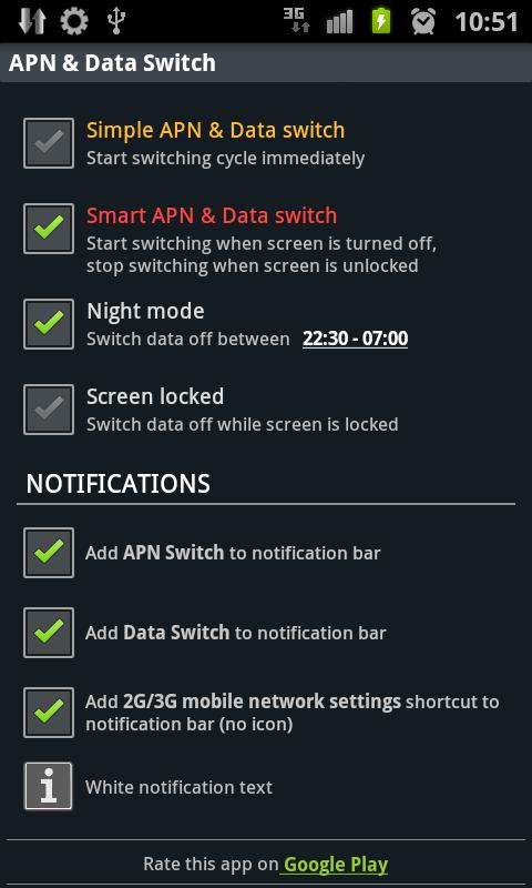 APN & Data Switch Trial- screenshot