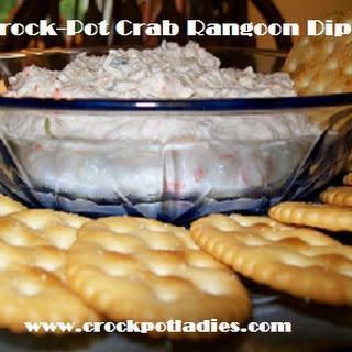 Crock-Pot Crab Rangoon Dip.